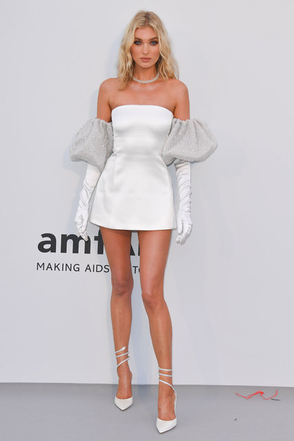 Elsa Hosk attends the amfAR Cannes Gala 2019 at Hotel du Cap-Eden-Roc on May 23, 2019 in Cap d'Antibes, France. (Photo by George Pimentel/WireImage)