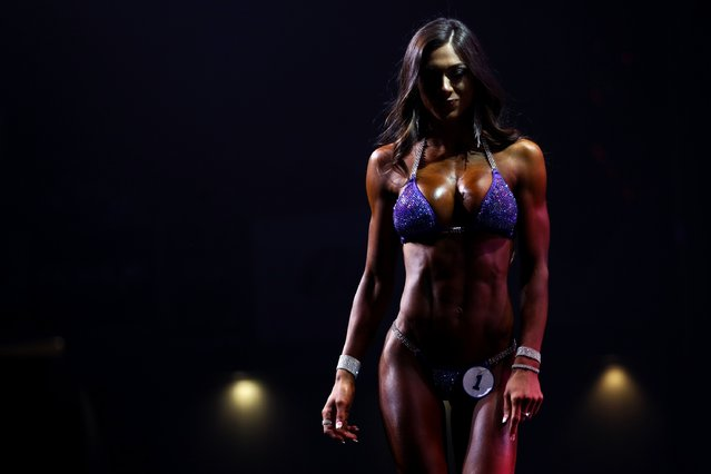 Janet Layug walks off stage during the Bikini International competition at the Greater Columbus Convention Center during the Arnold Sports Festival 2017 on March 4, 2017 in Columbus, Ohio. (Photo by Maddie Meyer/Getty Images)