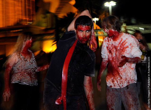 Occupy Las Vegas Holds Zombie Walk To Protest Corporate Greed