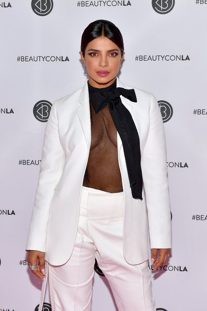 Priyanka Chopra attends Beautycon Los Angeles 2019 Pink Carpet at Los Angeles Convention Center on August 10, 2019 in Los Angeles, California. (Photo by Matt Winkelmeyer/Getty Images)