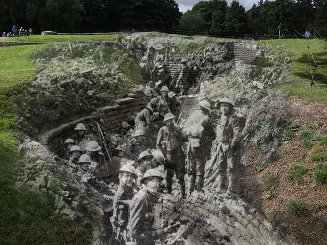 Battle of Vimy Ridge: Canadians in the trenches, Vimy Ridge 1917 – 2014. (Photo by Adam Surrey)