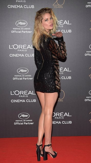 Doutzen Kroes attends the Gala 20th Birthday Of L'Oreal In Cannes during the 70th annual Cannes Film Festival at Martinez Hotel on May 24, 2017 in Cannes, France. (Photo by Pascal Le Segretain/Getty Images)