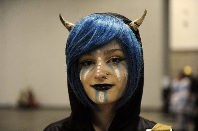 Skye Berkowitz, 15, of Golden, Colorado dressed as he own custom character during Denver Comic Con at the Colorado Convention Center in Denver, Colorado on June 14, 2014. (Photo by Seth McConnell/The Denver Post)