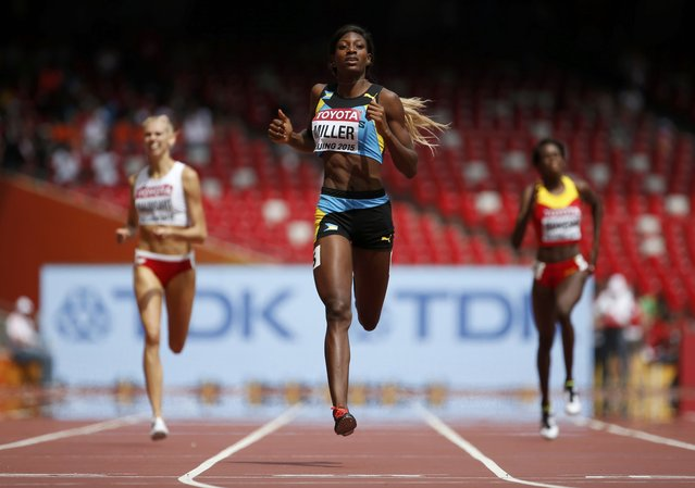 Shaunae Miller of Bahamas competes during the women's 400 metres heats during the 15th IAAF World Championships at the National Stadium in Beijing, China August 24, 2015. (Photo by Lucy Nicholson/Reuters)