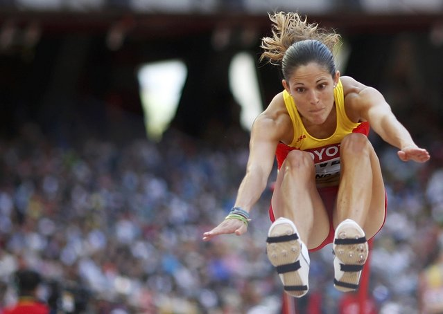 Maria del Mar Jover of Spain competes  in the women's long jump qualifying round during the 15th IAAF World Championships at the National Stadium in Beijing, China, August 27, 2015. (Photo by Phil Noble/Reuters)