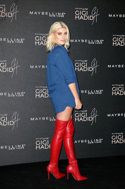 "Ashley James attends the Gigi Hadid X Maybelline party held at ""Hotel Gigi"" on November 7, 2017 in London, England. (Photo by PA Wire)"