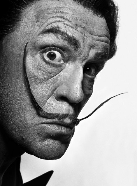"John Malkovich is seen as Salvador Dali in a re-creation of Philippe Halsman's 1954 portrait of the painter.  When asked if all of the shots worked out, Sandro replies ""Nothing was abandoned but there is one photograph that we discussed re-shooting. John is coming back in November, and there are six new images that we are going to re-create then"". (Photo by Sandro Miller/Catherine Edelman Gallery)"