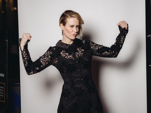 Sarah Paulson poses for a portrait at the Television Academy's 67th Emmy Awards Performers Nominee Reception at the Pacific Design Center on Saturday, September 19, 2015 in West Hollywood, Calif. (Photo by Casey Curry/Invision for the Television Academy/AP Images)