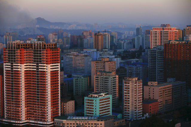 Residential buildings are seen in central Pyongyang, North Korea early October 9, 2015. (Photo by Damir Sagolj/Reuters)