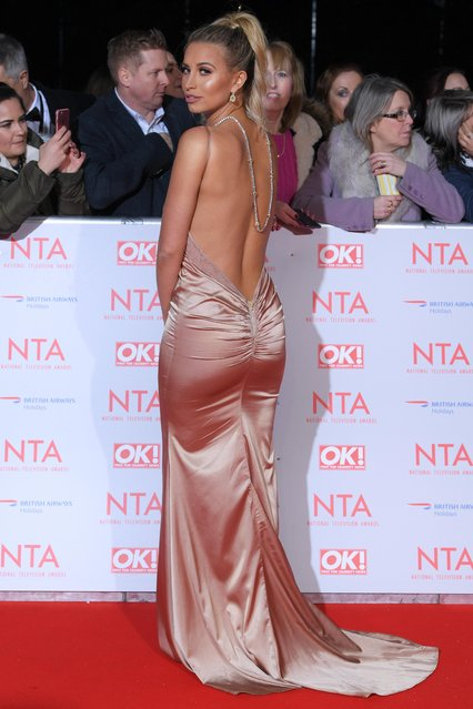 Ferne McCann attends the National Television Awards 2018 at the O2 Arena on January 23, 2018 in London, England. (Photo by David Fisher/Rex Features/Shutterstock)