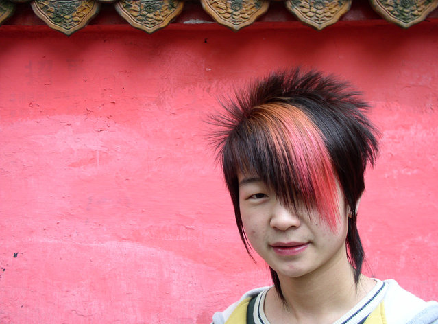 Hipster from Hunan's capital city, Changsha. (Photo by Tom Carter/The Atlantic)