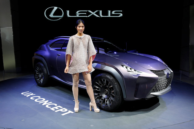 The Lexus UX concept is displayed on media day at the Paris auto show, in Paris, France, September 30, 2016. (Photo by Benoit Tessier/Reuters)