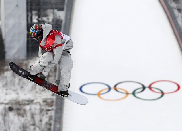 US Chris Corning competes during run 3 of the final of the men' s snowboard big air event at the Alpensia Ski Jumping Centre during the Pyeongchang 2018 Winter Olympic Games on February 24, 2018 in Pyeongchang. (Photo by Murad Sezer/Reuters)