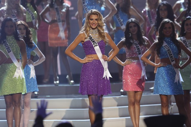 Miss France Camille Cerf onstage during The 63rd Annual Miss Universe Pageant at Florida International University on January 25, 2015 in Miami, Florida. (Photo by Alexander Tamargo/Getty Images)