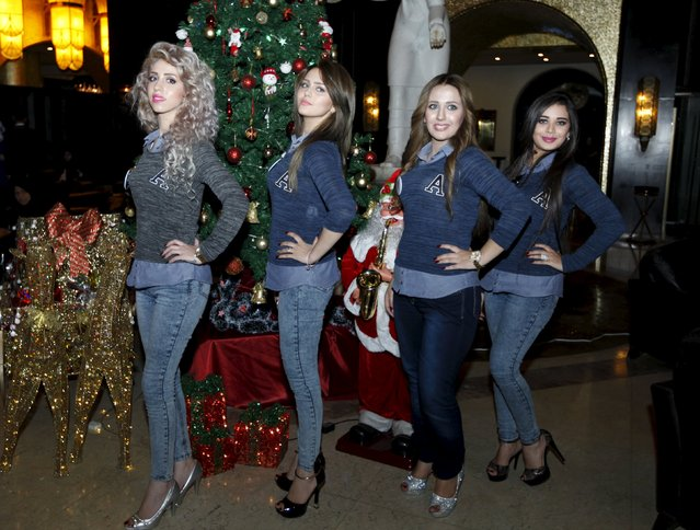 Participants pose for a photographers during the Miss Iraq Pageant in Baghdad, December 19, 2015. (Photo by Ahmed Saad/Reuters)