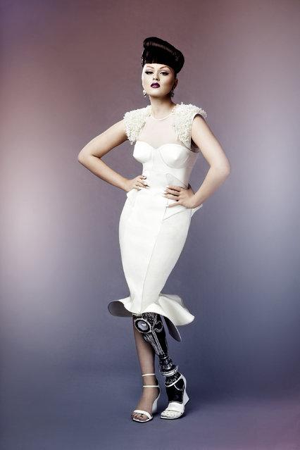 Celebrity Finalist – Jon Enoch. Performer, singer, dancer and DJ Viktoria Modesta pictured in London , on September 1, 2013. Viktoria has a number of artificial legs. (Photo by Jon Enoch)