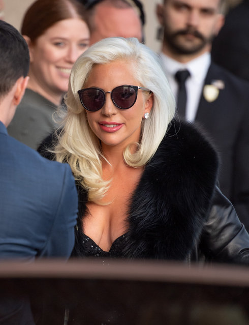 "Lady Gaga is seen at ""Jimmy Kimmel Live"" on February 27, 2019 in Los Angeles, California. (Photo by RB/Bauer-Griffin/GC Images)"