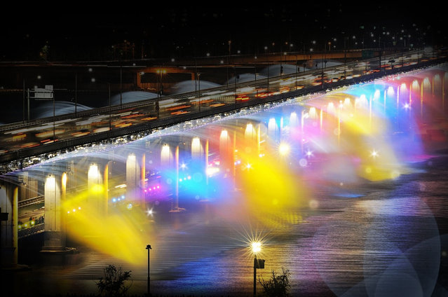 Moonlight Rainbow Fountain In Seoul South Korea