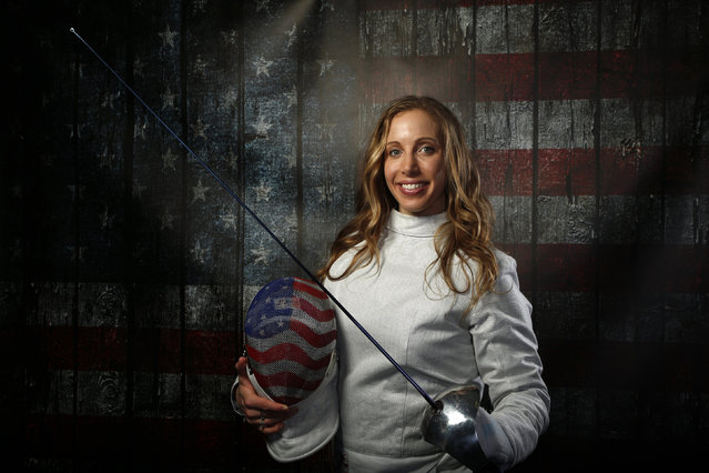Fencer Mariel Zagunis poses for a portrait at the U.S. Olympic Committee Media Summit in Beverly Hills, Los Angeles, California March 7, 2016. (Photo by Lucy Nicholson/Reuters)
