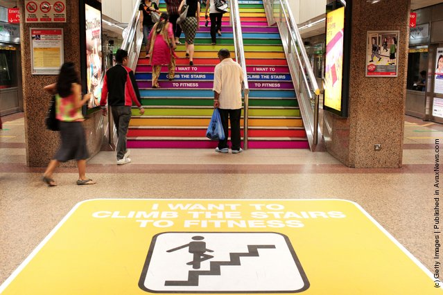 Singapore Promotes Fitness With Subway Redesign