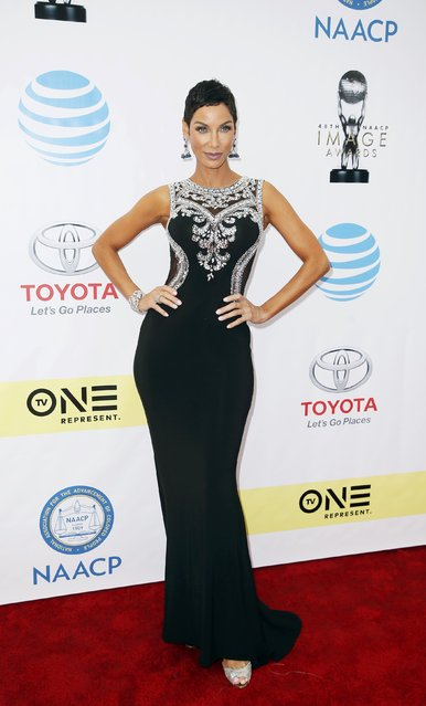 Nicole Murphy arrives at the 48th NAACP Image Awards in Pasadena, California, U.S., February 11, 2017. (Photo by Danny Moloshok/Reuters)