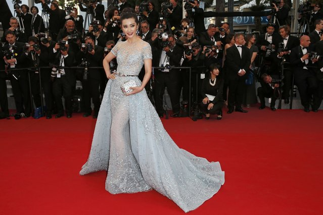 "Actress Li BingBing poses on the red carpet as she arrives for the screening of the film ""The Sea of Trees"" in competition at the 68th Cannes Film Festival in Cannes, southern France, May 16, 2015. (Photo by Benoit Tessier/Reuters)"
