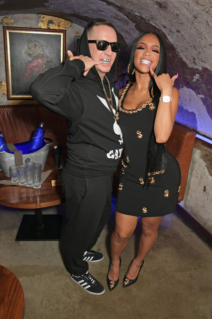 Creative Director at Moschino Jeremy Scott and Saweetie attend as CIROC x Moschino celebrate Pride In London with the hottest party of the summer hosted by Jeremy Scott at MNKY HSE on July 4, 2019 in London, England. (Photo by David M. Benett/Dave Benett/Getty Images for CIROC Vodka)