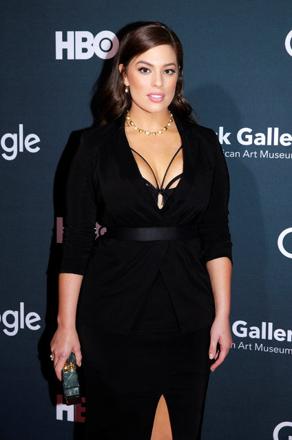 """Model Ashley Graham arrives at the Google, HBO and the Smithsonian's American Art Museum """"Celebration of Creativity"""" cocktail party to celebrate the White House Correspondents' Association dinner weekend in Washington, U.S., April 29, 2016. (Photo by Joshua Roberts/Reuters)"""