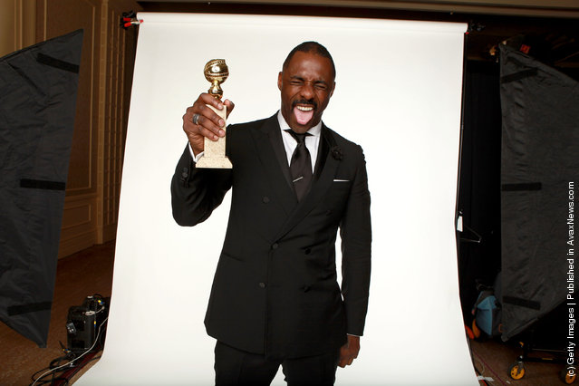 Actor Idris Elba, winner of the Best Performance by an Actor in a Mini-Series