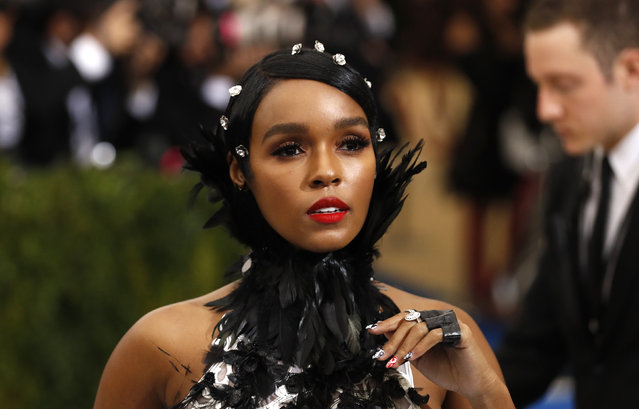 """Singer Janelle Monae attends """"Rei Kawakubo/Comme des Garcons: Art Of The In-Between"""" Costume Institute Gala – Arrivals at Metropolitan Museum of Art on May 1, 2017 in New York City. (Photo by Lucas Jackson/Reuters)"""