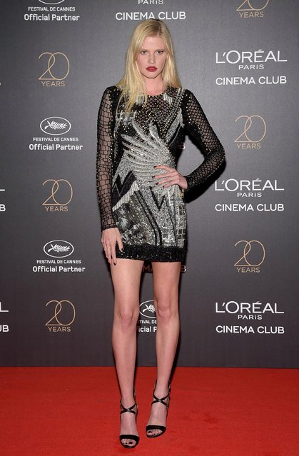 Lara Stone attends the Gala 20th Birthday Of L'Oreal In Cannes during the 70th annual Cannes Film Festival at Martinez Hotel on May 24, 2017 in Cannes, France. (Photo by Pascal Le Segretain/Getty Images)