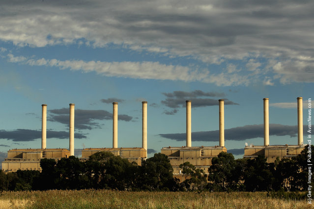 A view of the Hazelwood Power Station