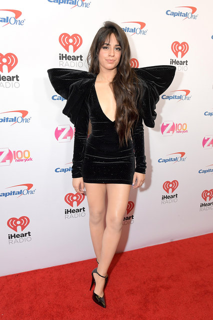Camila Cabello arrives at iHeartRadio's Z100 Jingle Ball 2019 at Madison Square Garden on December 13, 2019 in New York City. (Photo by Michael Loccisano/Getty Images)