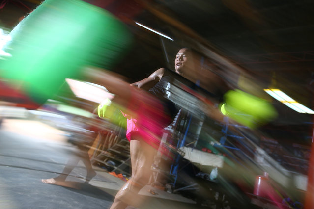 Muay Thai boxer Nong Rose Baan Charoensuk, who is transgender, trains at a gym in Buriram province, Thailand, July 4, 2017. (Photo by Athit Perawongmetha/Reuters)