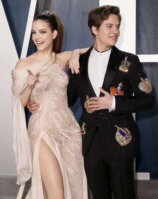 Barbara Palvin and Dylan Sprouse attend the Vanity Fair Oscar party in Beverly Hills during the 92nd Academy Awards, in Los Angeles, California, U.S., February 9, 2020. (Photo by Danny Moloshok/Reuters)