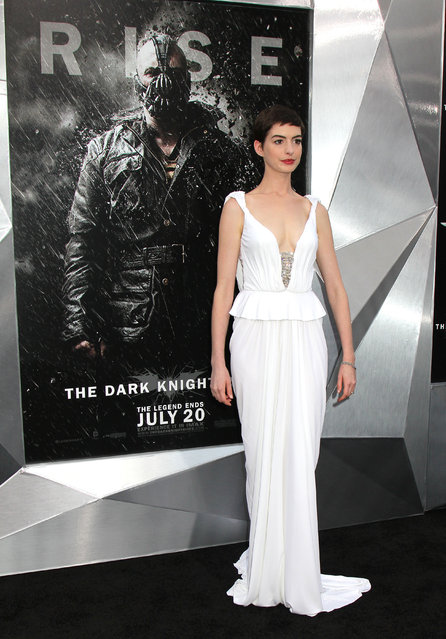 "Actress Anne Hathaway attends the ""The Dark Knight Rises"" World Premiere"
