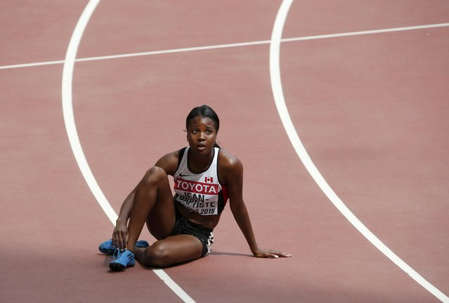 Audrey Jean-Baptiste of Canada after the women's 400 metres heats during the 15th IAAF World Championships at the National Stadium in Beijing, China August 24, 2015. (Photo by David Gray/Reuters)