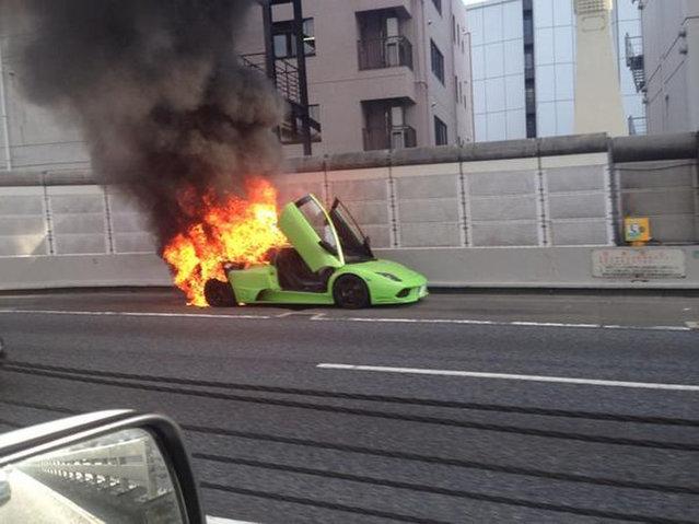 Lamborghini Murcielago Burned To In The Tokyo