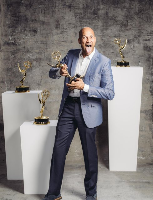 Keegan Michael Key poses for a portrait at the Television Academy's 67th Emmy Awards Performers Nominee Reception at the Pacific Design Center on Saturday, September 19, 2015 in West Hollywood, Calif. (Photo by Casey Curry/Invision for the Television Academy/AP Images)