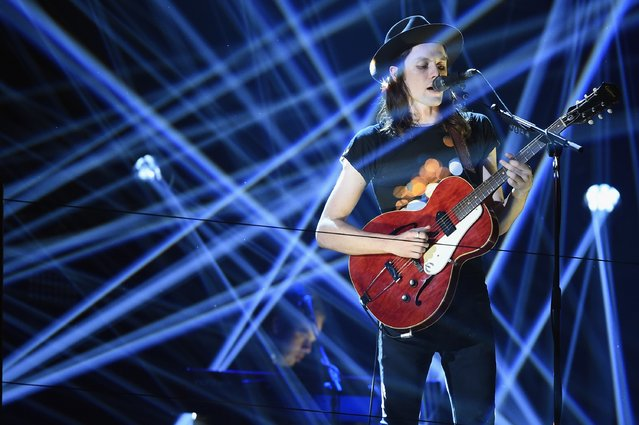 James Bay performs on stage during the MTV EMA's 2015 at the Mediolanum Forum on October 25, 2015 in Milan, Italy. (Photo by Brian Rasic/Getty Images for MTV)
