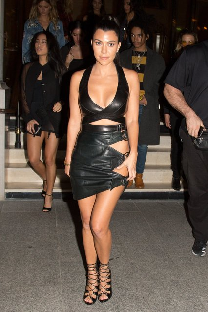 Kourtney Kardashian spotted as they leave their hotel to attend the La Maison du Caviar party in Paris, France on October 02, 2016. (Photo by FameFlynet UK)
