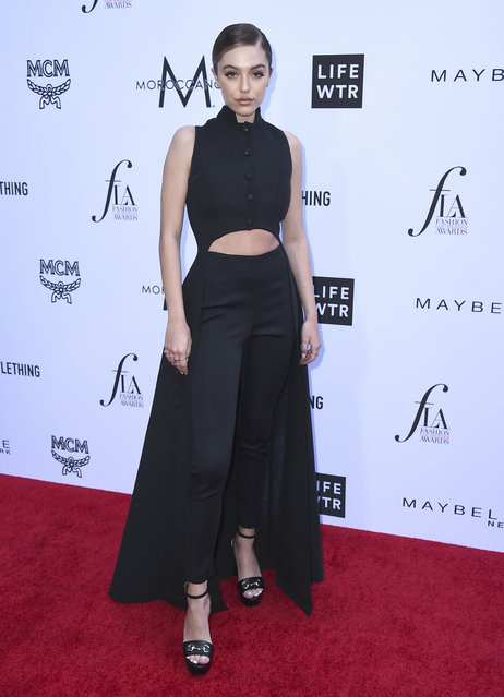 Delilah Belle Hamlin arrives at the Daily Front Row's Fashion Los Angeles Awards at the Beverly Hills Hotel on Sunday, April 8, 2018, in Beverly Hills, Calif. (Photo by Jordan Strauss/Invision/AP Photo)