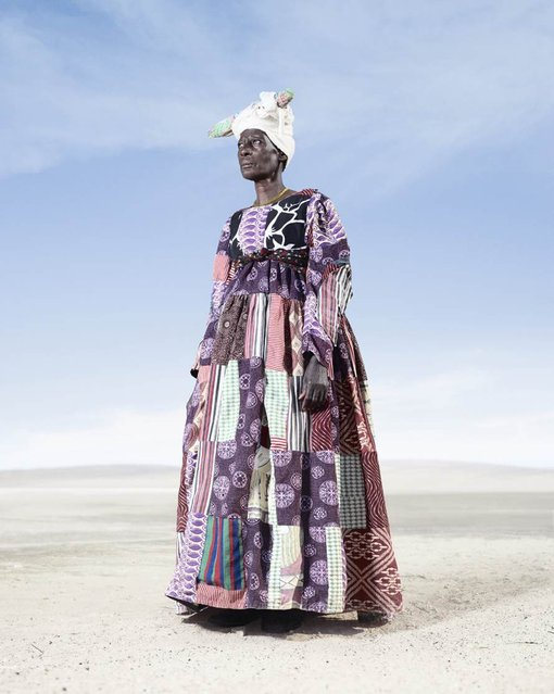 Herero Woman in Patchwork Dress 2, 2012. (Photo by Jim Naughten, courtesy of Klompching Gallery, New York)