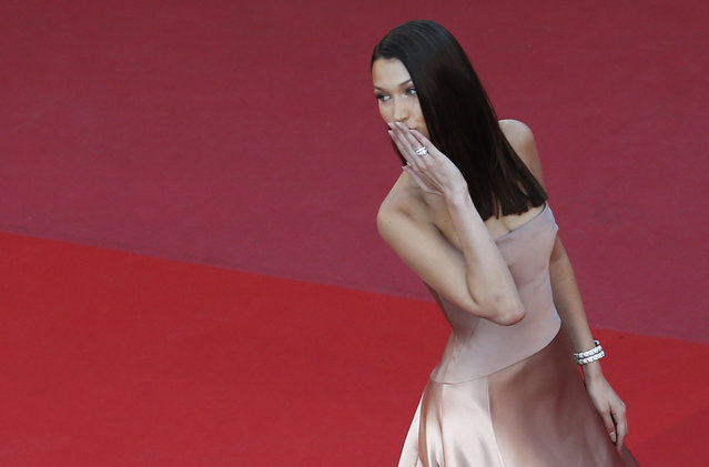 """Bella Hadid attends the screening of """"Ash Is The Purest White (Jiang Hu Er Nv)"""" during the 71st annual Cannes Film Festival at Palais des Festivals on May 11, 2018 in Cannes, France. (Photo by Jean-Paul Pelissier/Reuters)"""