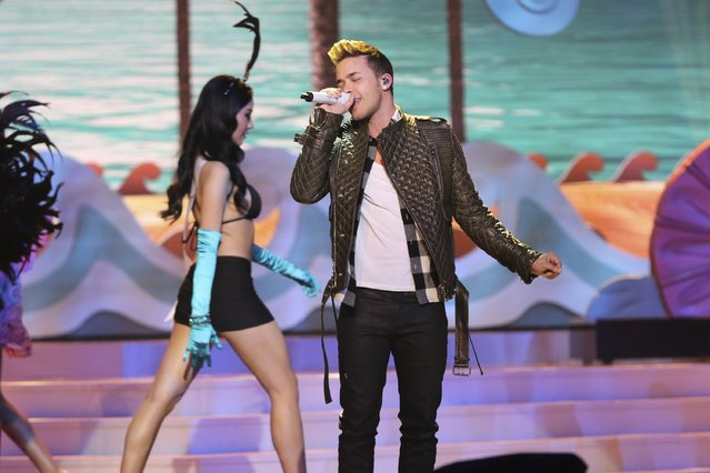 Prince Royce performs onstage during The 63rd Annual Miss Universe Pageant at Florida International University on January 25, 2015 in Miami, Florida. (Photo by Alexander Tamargo/Getty Images)