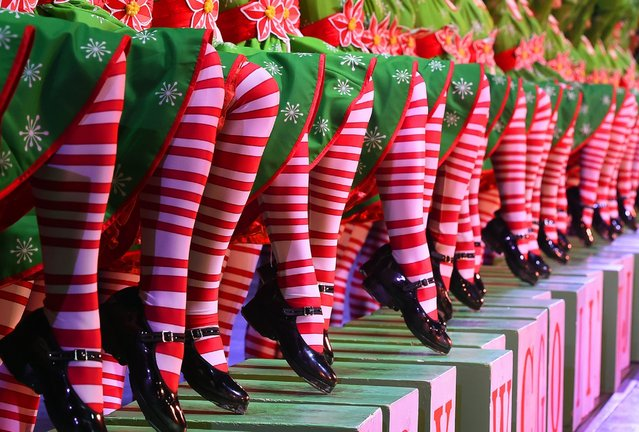 The Rockettes perform their Rag Dolls number during the 2015 Radio City Christmas Spectacular at Radio City Music Hall in New York City on December 2, 2015. (Photo by Timothy A. Clary/Getty Images)