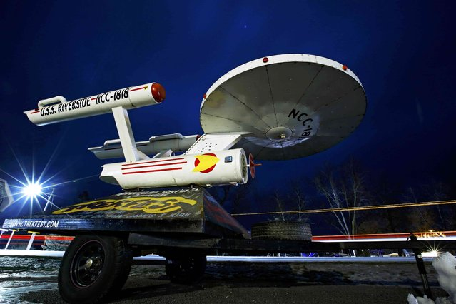 A model replica of a Star Trek starship in Riverside, Iowa, United States, January 18, 2016. Riverside was mentioned to be the future birthplace of fictional character Capt. James T. Kirk from the series. (Photo by Jim Young/Reuters)