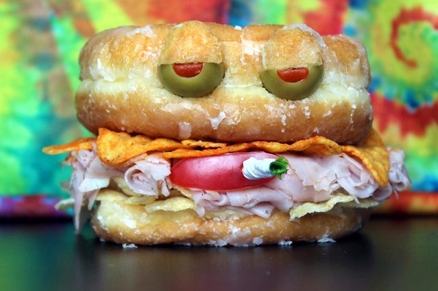 """""""Kasia Haupt's sandwich monsters: Glazed and Confused"""". (Photo by Kasia Haupt/Caters News)"""
