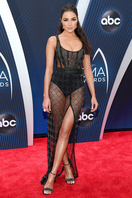 Model Olivia Culpo attends the 52nd annual CMA Awards at the Bridgestone Arena on November 14, 2018 in Nashville, Tennessee. (Photo by Jason Kempin/Getty Images)
