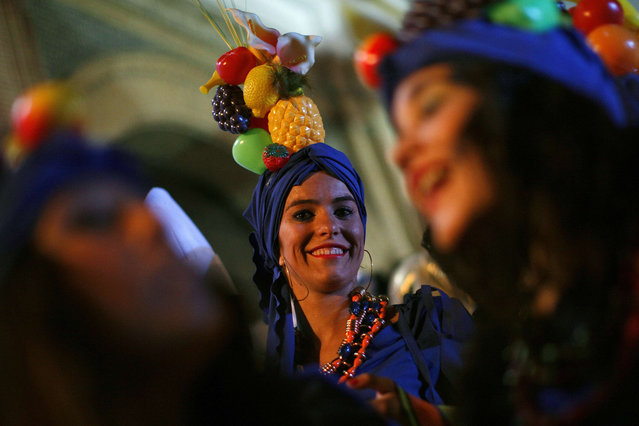 Revellers take part in New Year's celebrations in Coin, near the southern Spanish town of Malaga, early January 1, 2014. (Photo by Jon Nazca/Reuters)